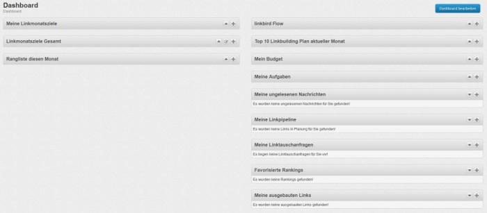 linkbird Dashboard - www.smartlemon.de