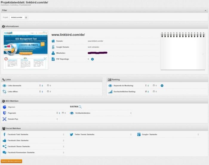 linkbird Projektdatenblatt - www.smartlemon.de