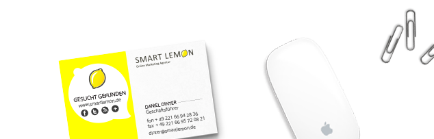 SMART LEMON Visitenkarte (c) SMART LEMON GmbH & Co. KG