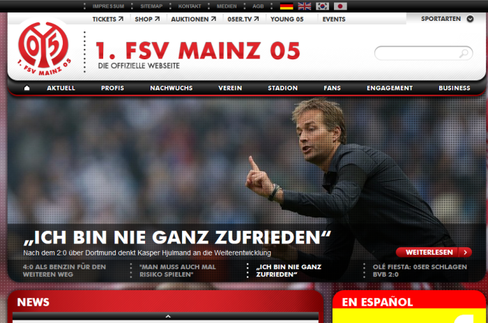 website mainz05.de