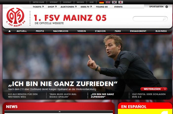 website mainz05.de