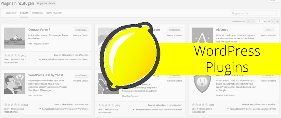 WordPress Plugins -SMART LEMON empfiehlt (c) SMART LEMON GmbH & Co. KG