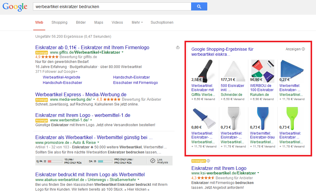 Google Shopping - Product Listing Ads