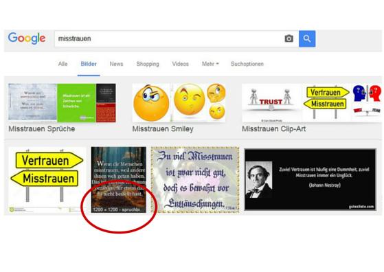 Screenshot Misstrauen Bildersuche (c) smartlemon.de
