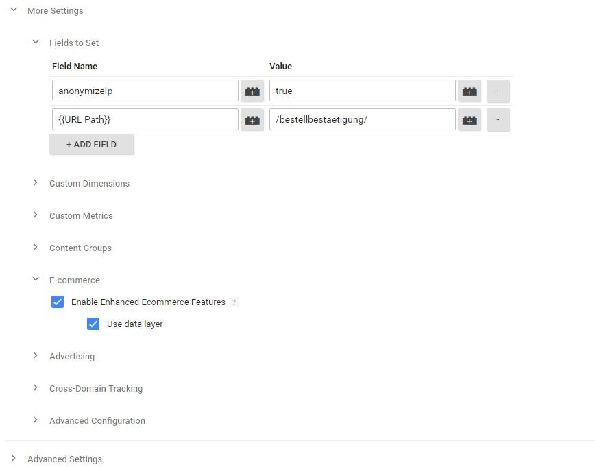 Screenshot Tag GTM Plenty