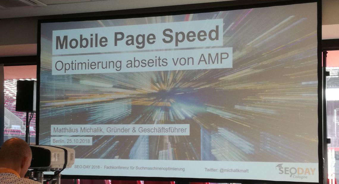 Mobile PageSpeed-Optimierung abseits von AMP - Vortrag SEO-Day 2018 - SMART LEMON