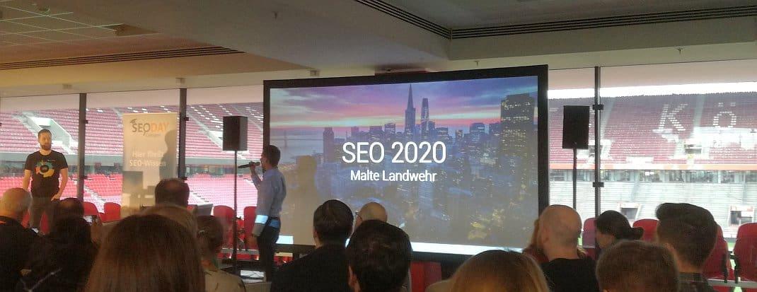 SEO 2020 - Vortrag Malte Landwehr auf dem SEO-Day 2019 - SMART LEMON