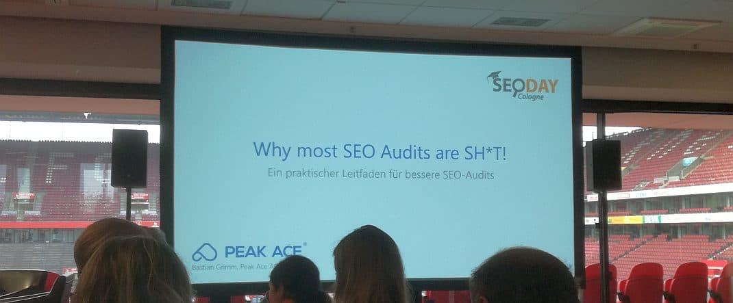 SEO-Audits - Vortrag von Bastian Grimm auf dem SEO-Day 2019 - SMART LEMON