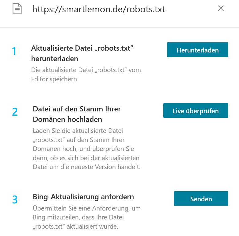 Bing Webmaster Tools robots.txt Tester Tool UpdateSmart Lemon