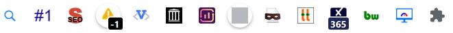 Die besten SEO Browser Plug-Ins Icons