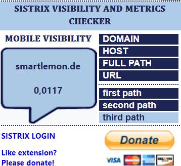Die besten SEO Browser Plug-Ins SISTRIX Visibility and Metrics
