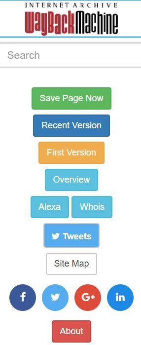 Die besten SEO Browser Plug-Ins Wayback Machine