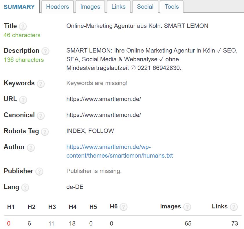 Die besten SEO Browser Plug-Ins SEO Meta in one Click